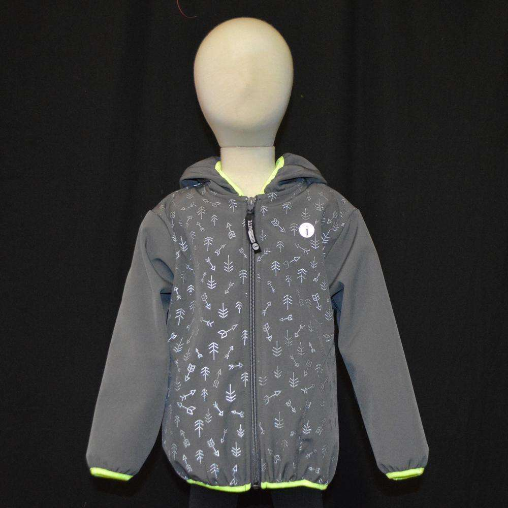 Kids Fleecy Softshell Reflective Jacket in Graphite--CLEARANCE