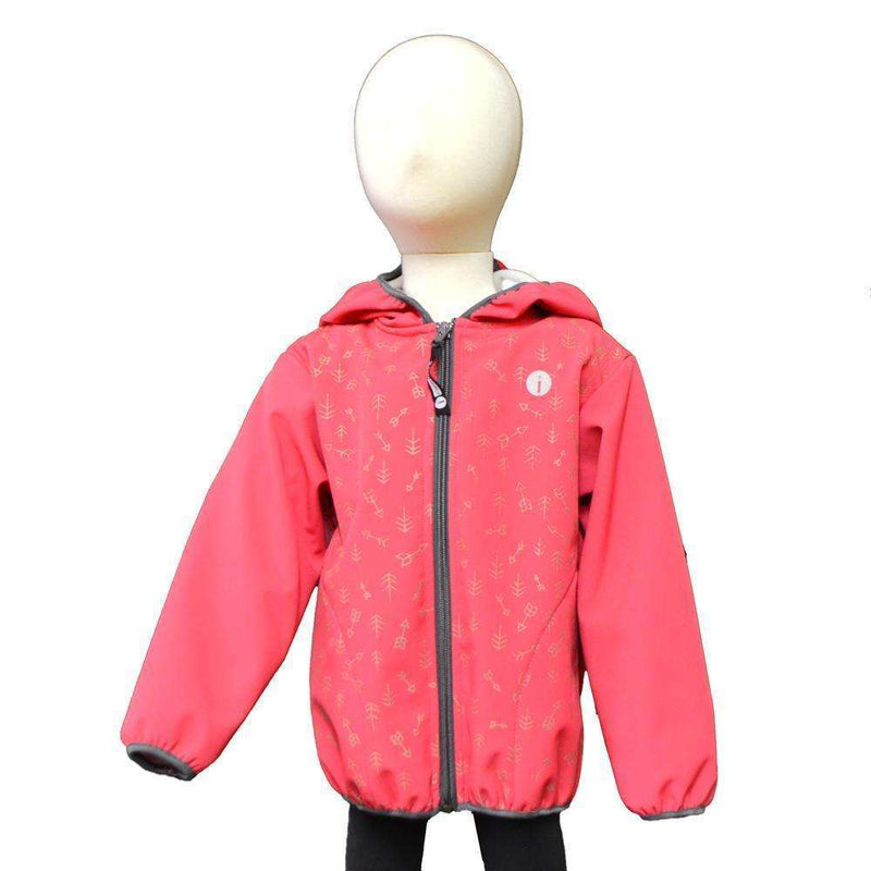 Kids BrightLITE Reflective Windbreaker in Red Aztec--CLEARANCE