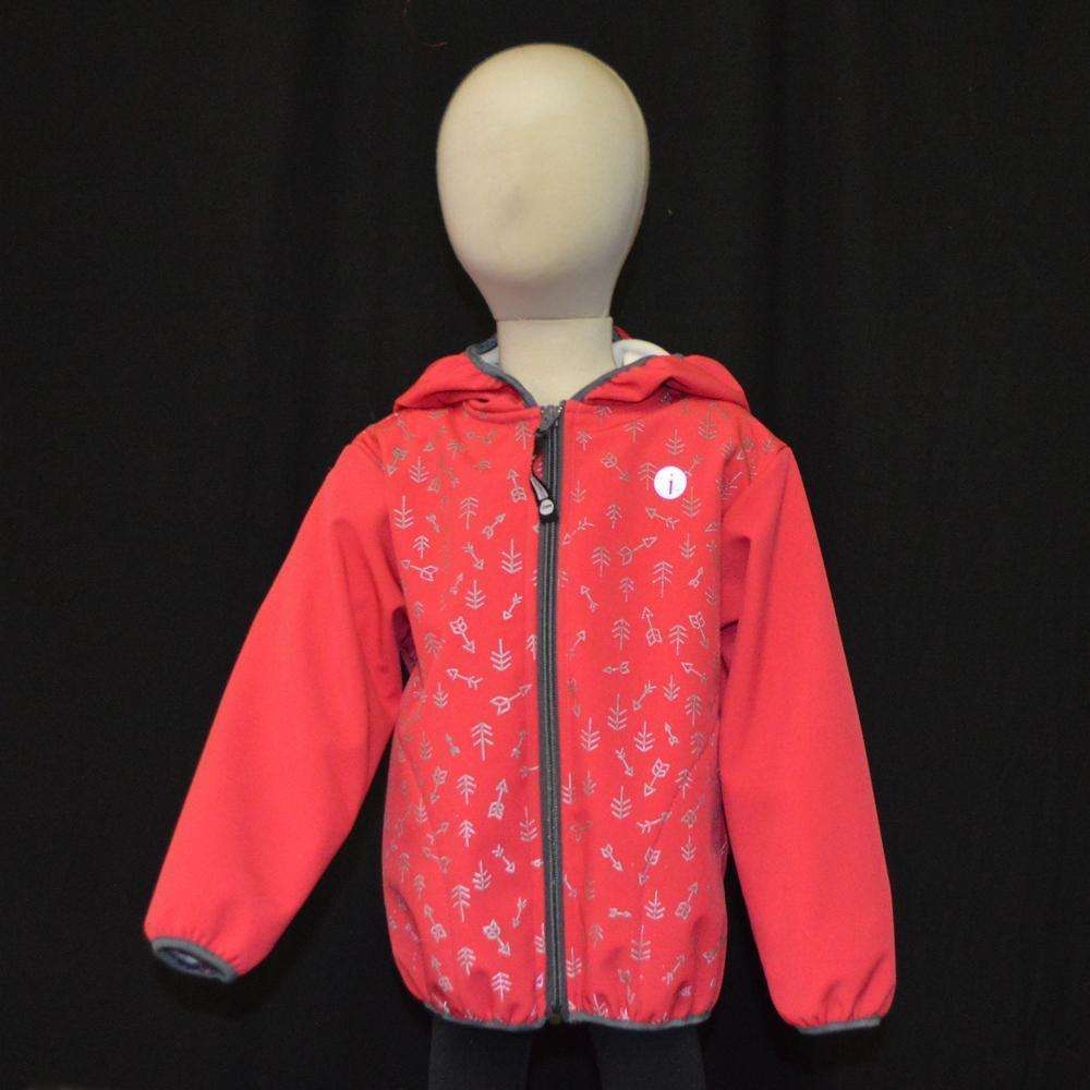Kids Fleecy Softshell Reflective Jacket in Pink--CLEARANCE
