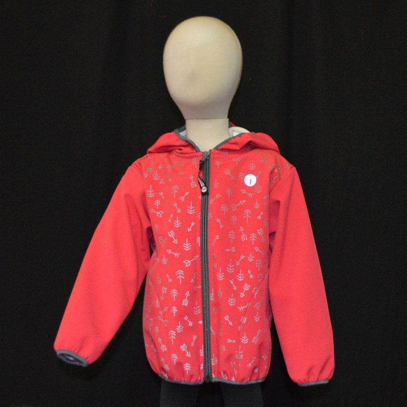 Kids Fleecy Softshell Reflective Jacket in Pink