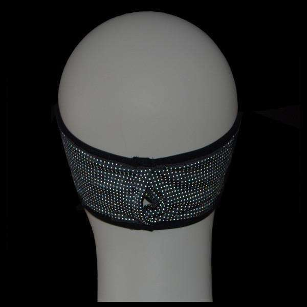 Kids Reflective PonyBand Headband in Black