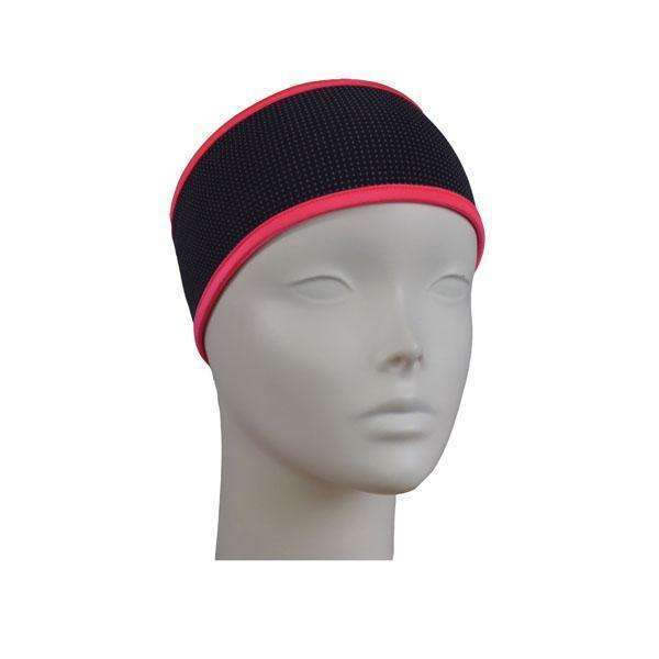 Kids Reflective PonyBand Headband in Black/Coral Glo