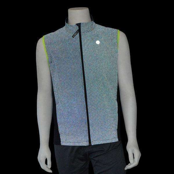 Men's Newport Packable Reflective Vest in Navy/Flo Lime