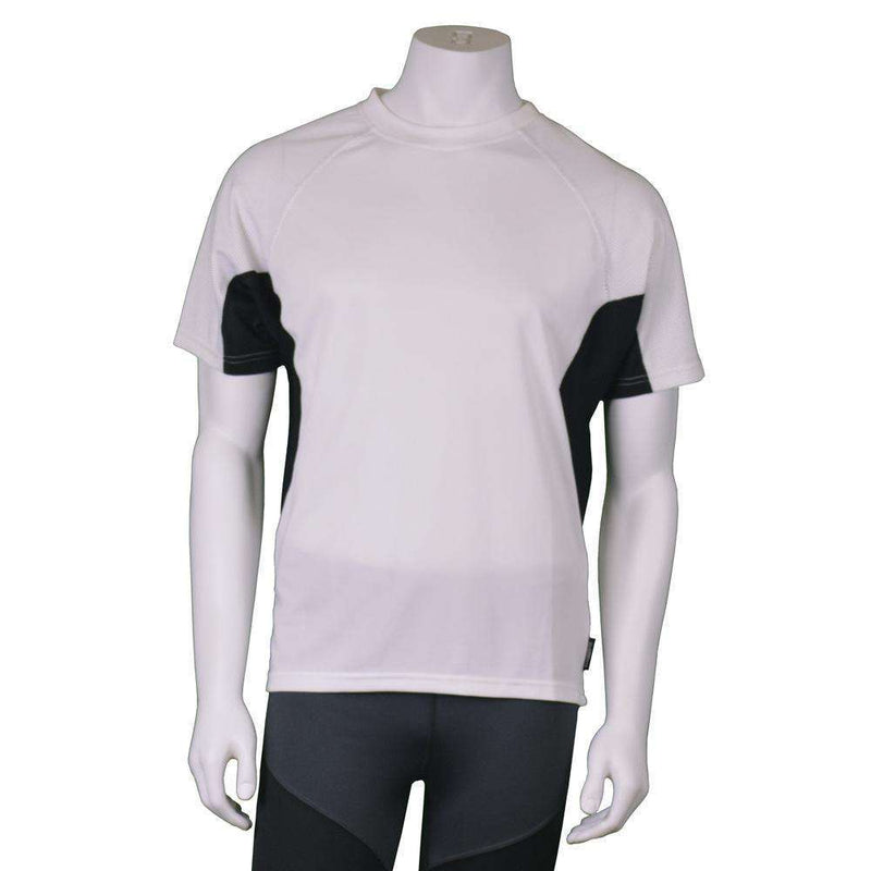 Men's Pulse Reflective Short Sleeve T-Shirt in White/Black