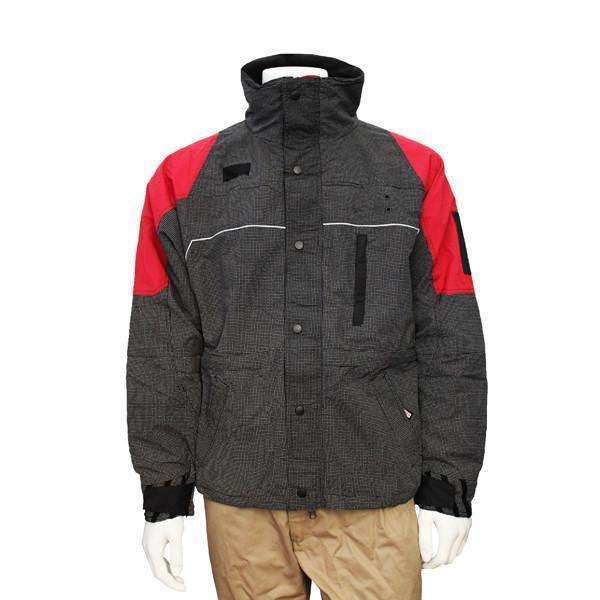 Men's Reflective Ascent Parka in Red/Black. Zip out liner!