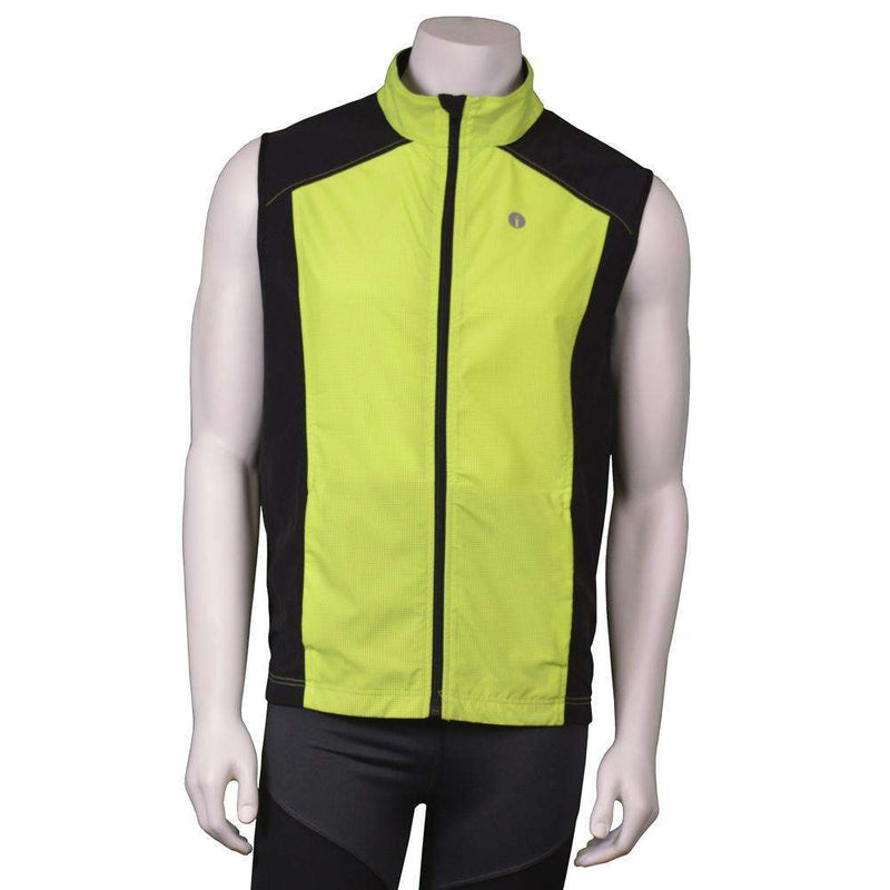 Men's Reflective Chicago Vest in Flo Lime / Black