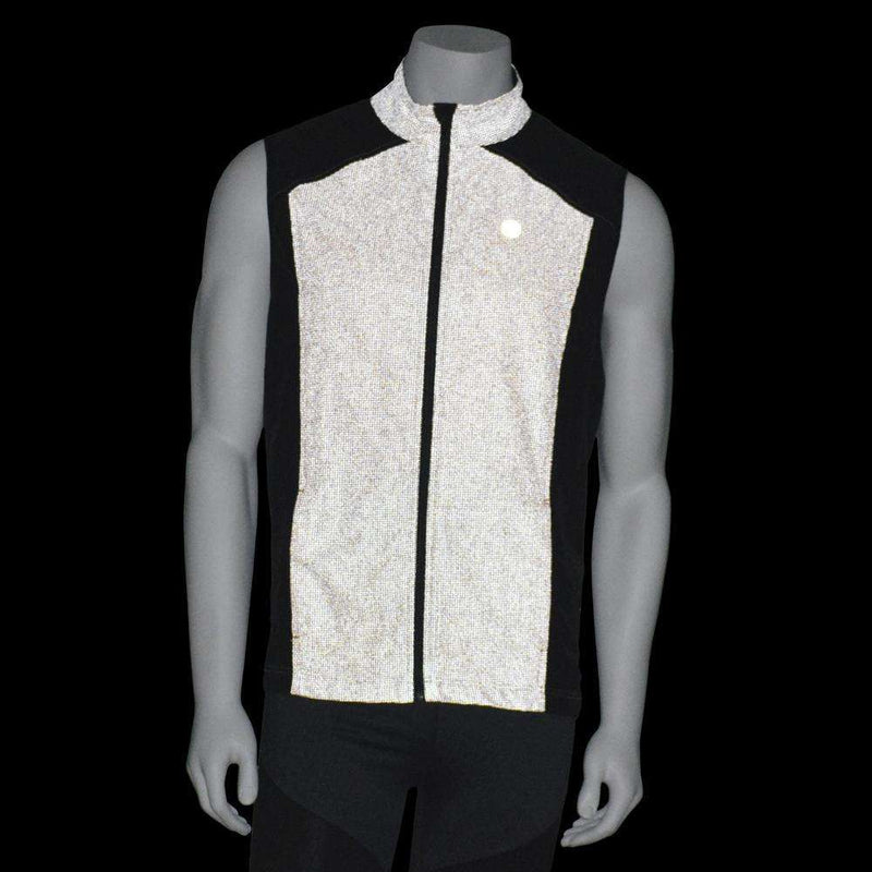 Men's Reflective Chicago Vest in Safety Orange / Black