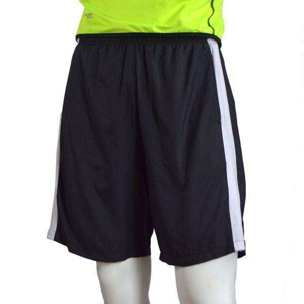 Men's Reflective Endeavor Long Running Short in Black/White