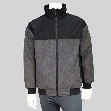 Men's Reflective Half-Zip Sweatshirt in Black