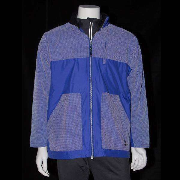 Men's Three Season Hooded Fleece Reflective Lined Jacket in Blue--CLEARANCE