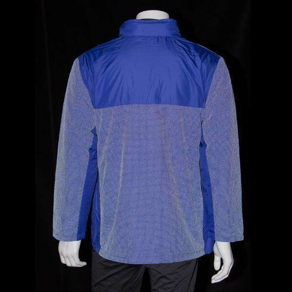 Men's Three Season Hooded Fleece Reflective Lined Jacket in Blue