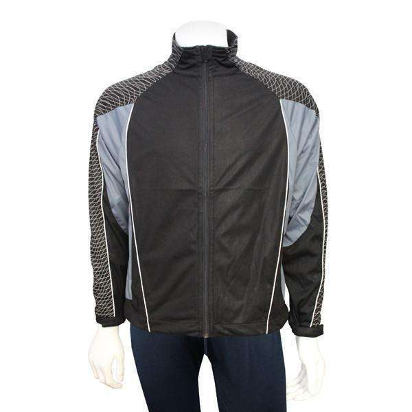 Men's Reflective Softshell Jacket in Black