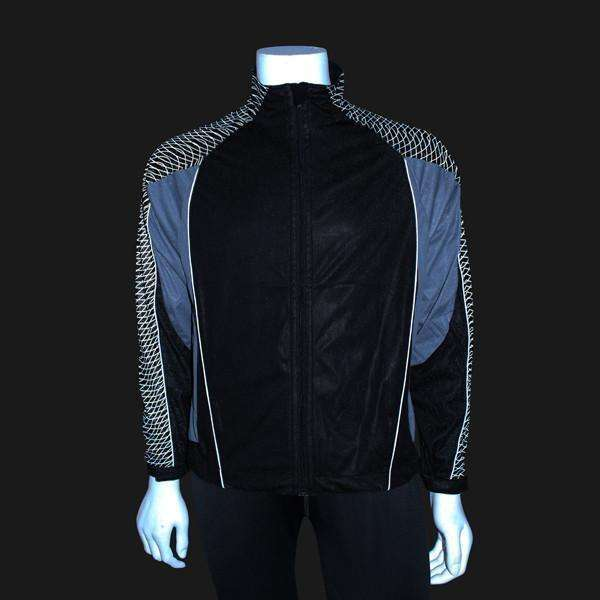 Men's Reflective Softshell Jacket in Black--CLEARANCE