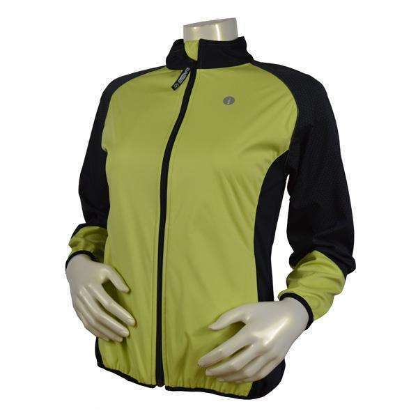 Mystic Reflective Softshell Women's Jacket in Honeydew/Black--CLEARANCE