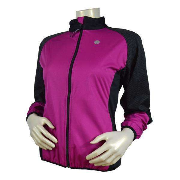 Mystic Reflective Softshell Women's Jacket in Mulberry/Black--CLEARANCE