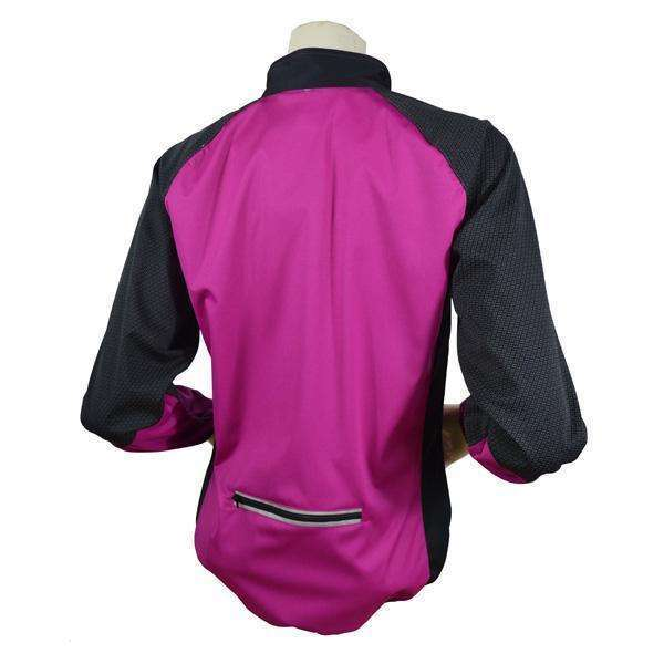 Mystic Reflective Softshell Women's Jacket in Mulberry/Black