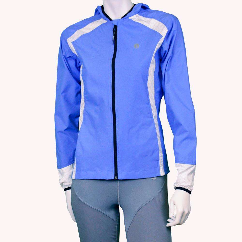 Narragansett Women's Reflective Jacket in Periwinkle/White--CLEARANCE