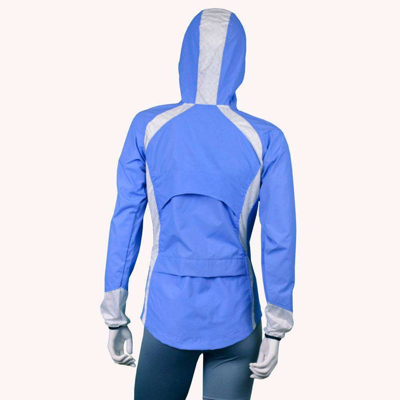 Narragansett Women's Reflective Jacket in Periwinkle/White