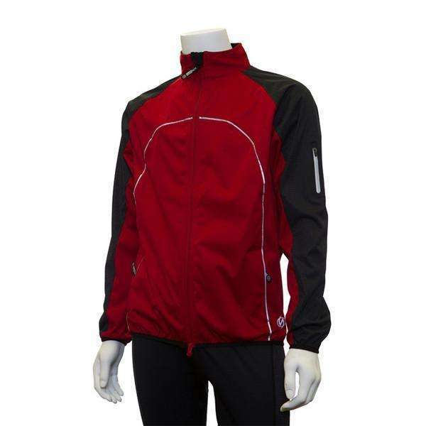 Nocturnal Men's Reflective Softshell Jacket in Red/Black--CLEARANCE