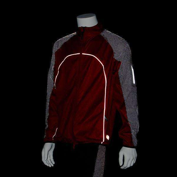 Nocturnal Men's Reflective Softshell Jacket in Red/Black