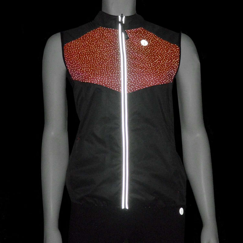 Packable Women's Reflective Vest in Graphite / Coral Glo