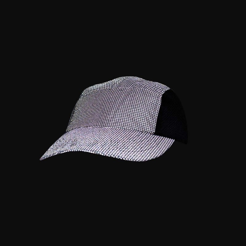 Primo Lid Mesh-Sided Baseball Cap in Reflective Black Roma