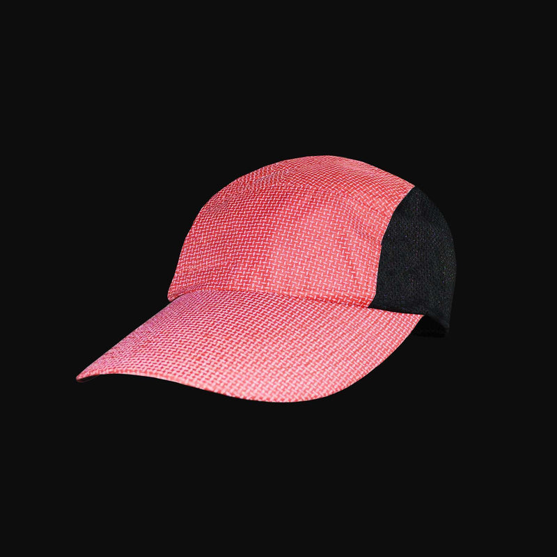Primo Lid Mesh-Sided Baseball Cap in Reflective Cranberry