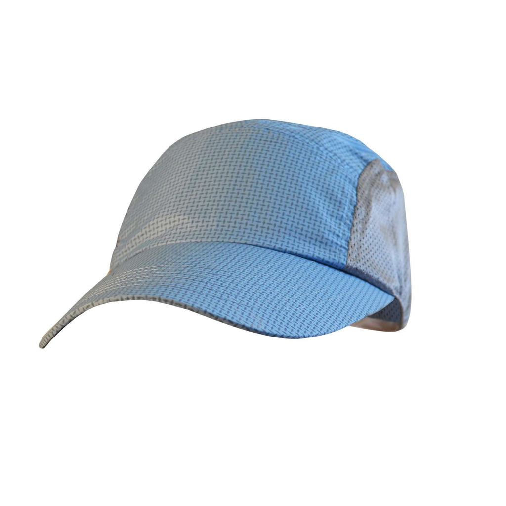 Primo Lid Mesh-Sided Baseball Cap in Reflective Powder Blue