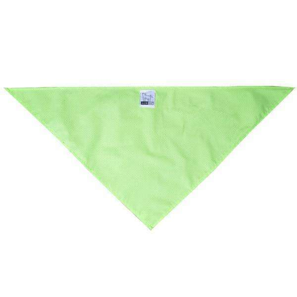 Reflective Dog Bandana in Fluo. Green Roma