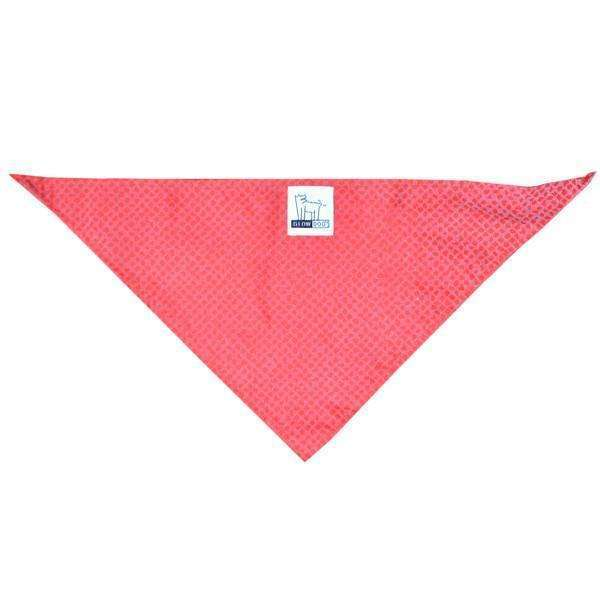 Reflective Dog Bandana in Red Safety Net