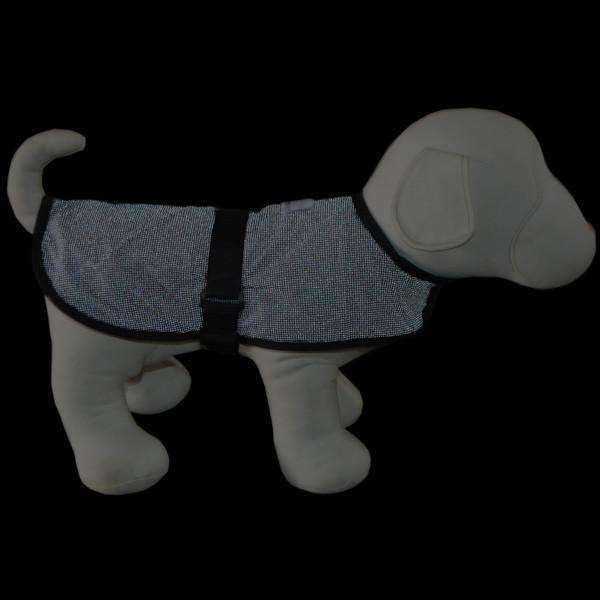 Reflective Dog Jacket in Black/Roma