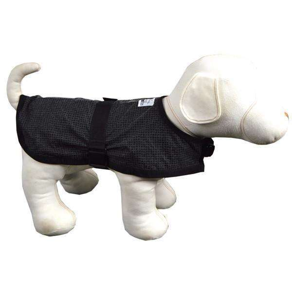 Reflective Dog Jacket in Black/Safety Net