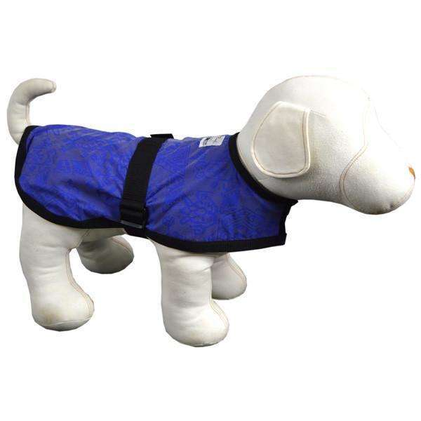 Reflective Dog Jacket in Blue/Geo