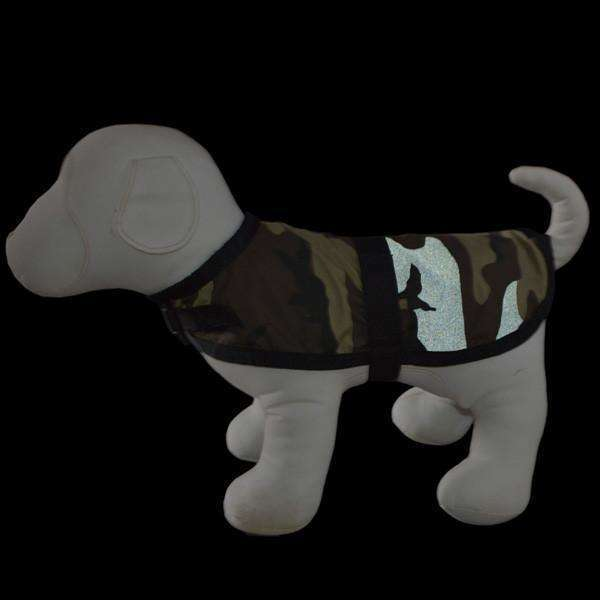 Reflective Dog Jacket in Camo