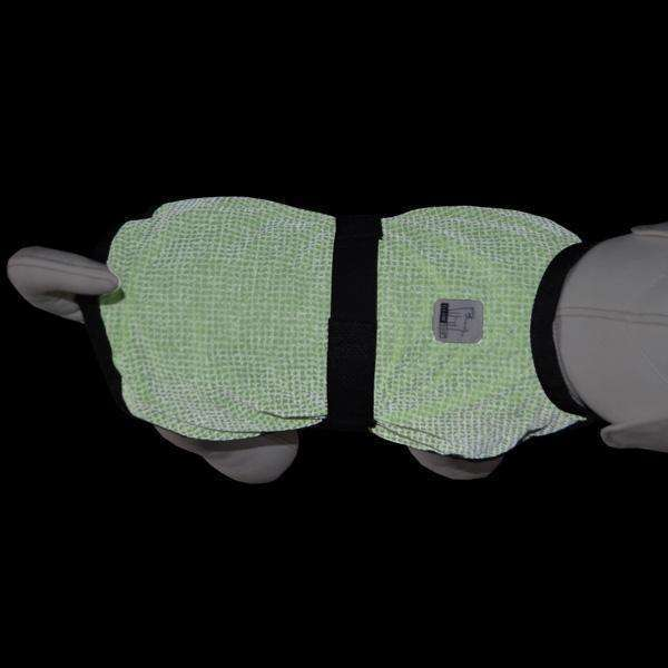 Reflective Dog Jacket in Neon Green