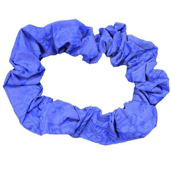 Reflective Dog Scrunchie in Blue Geo
