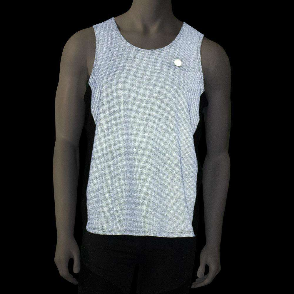 Reflective Men's Endeavor Tank in Black