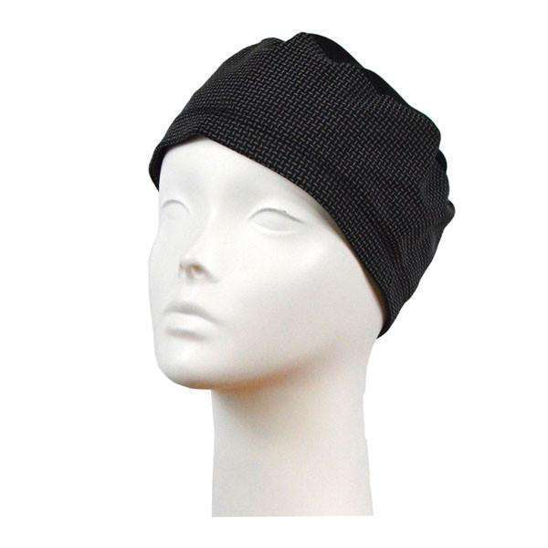 Reflective Mesh Skull Cap in Black