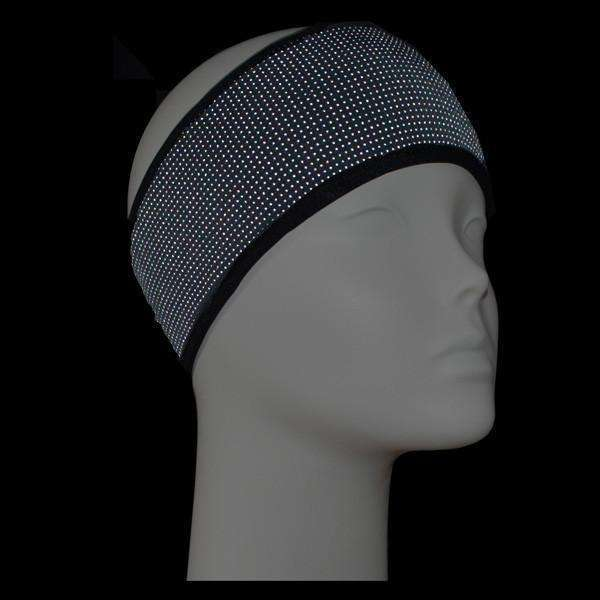 Reflective PonyBand Headband in Black--CLEARANCE