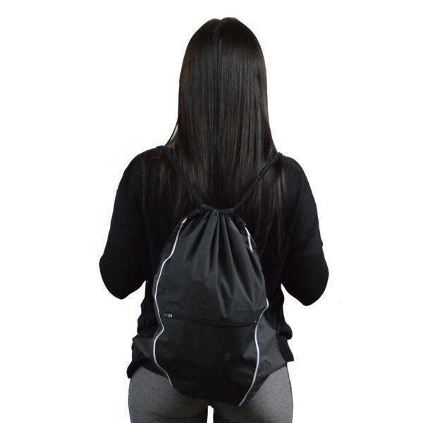 Reflective String Bag in Black