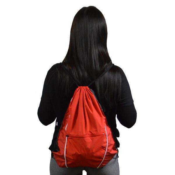 Reflective String Bag in Red