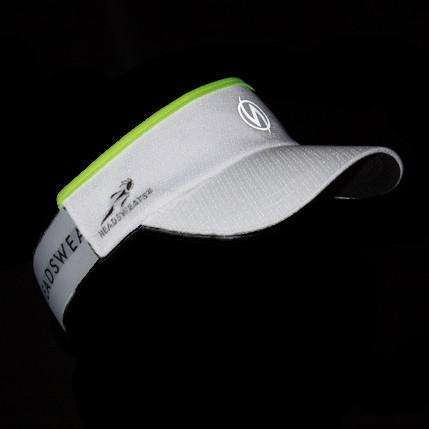 Reflective SuperVisor in White/Flo Lime