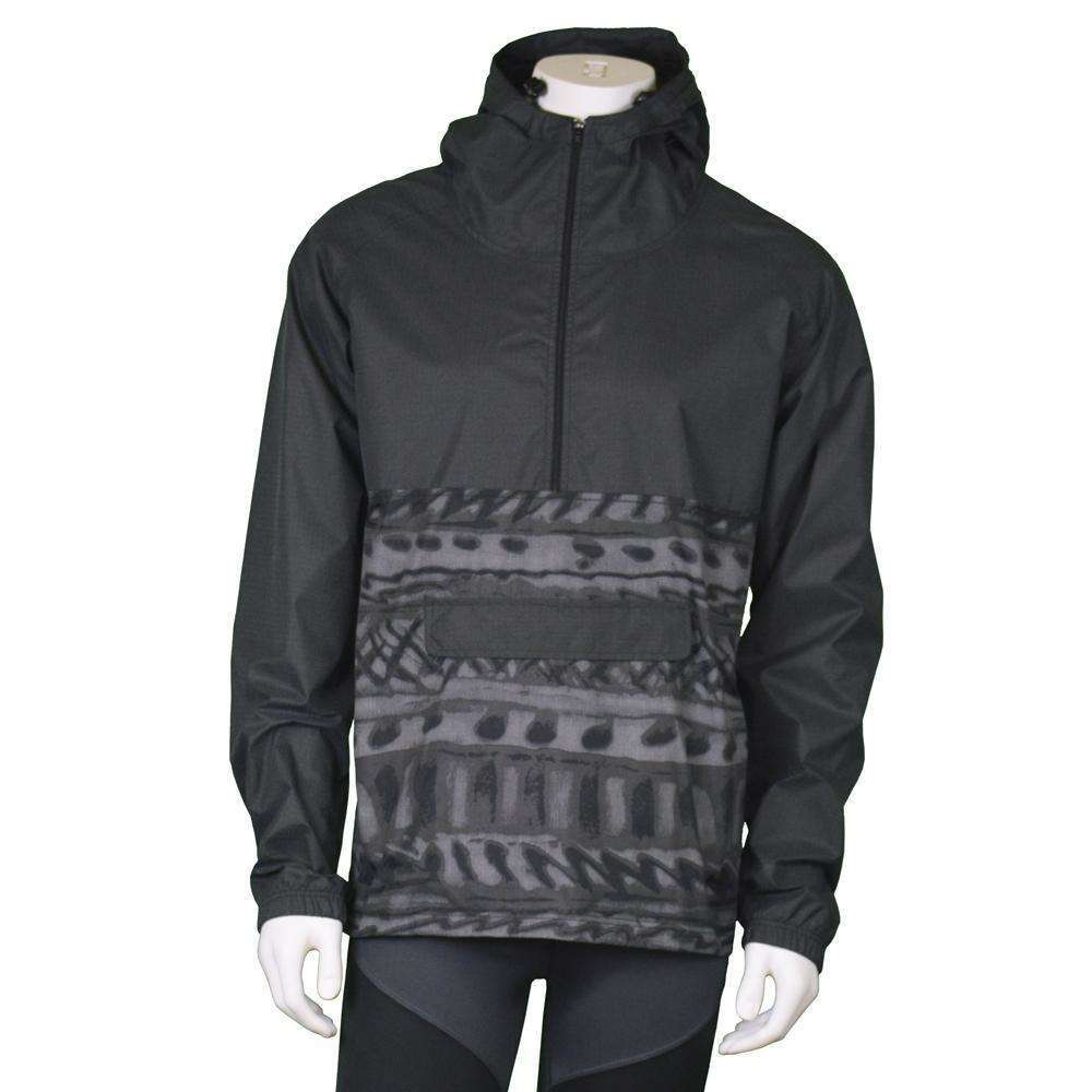 Reflective Unisex Half-Zip Anorak in Black