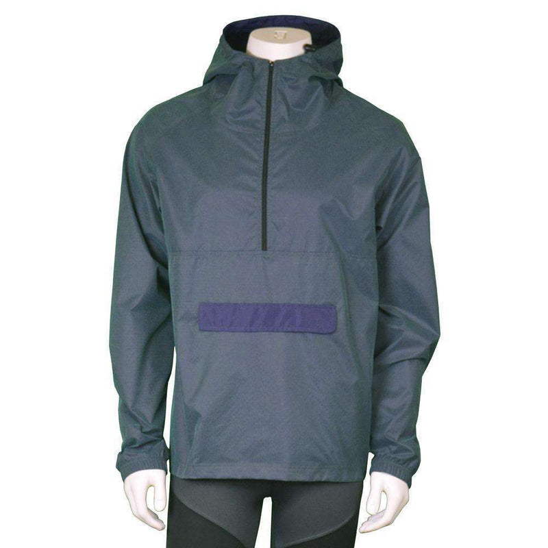 Reflective Unisex Half-Zip Anorak in Green/Purple Shimmer