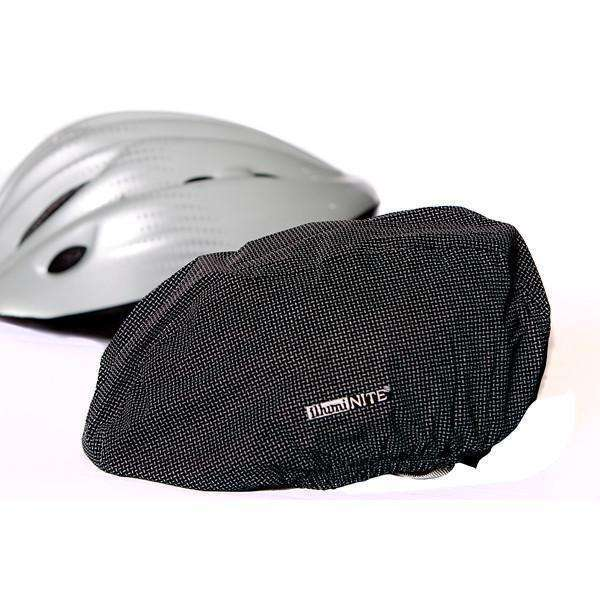 Reflective Waterproof Bike Helmet Cover in Black
