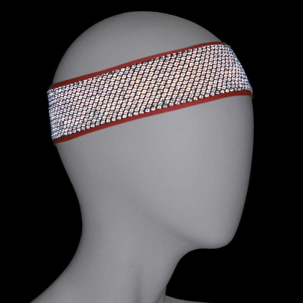 REVERSIBLE! Reflective Stretch Eclipse Headband in Coral Glo/Graphite