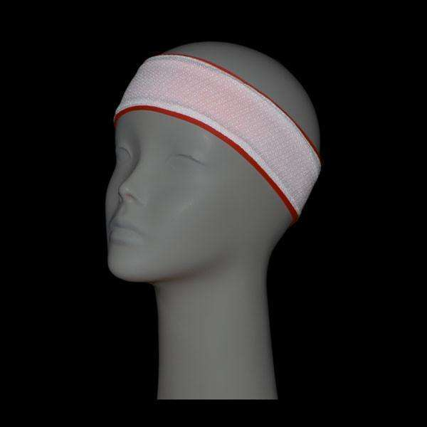 REVERSIBLE! Reflective Stretch Eclipse Headband in Coral Glo/White