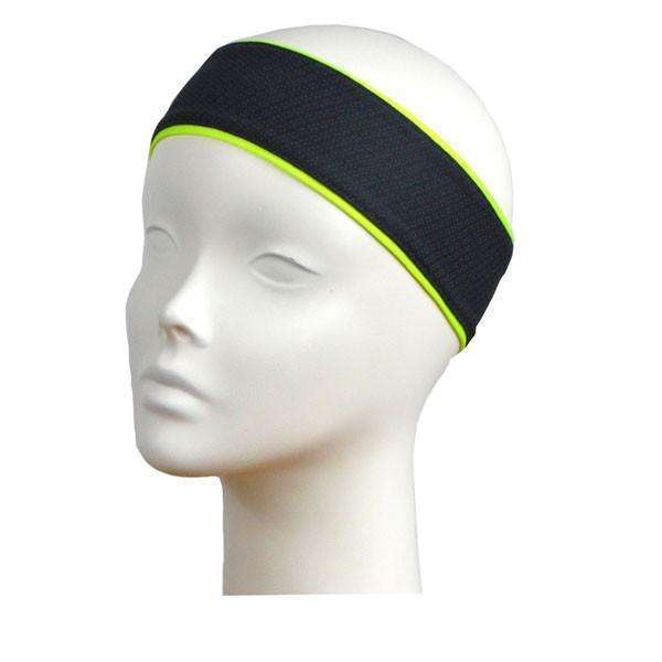 REVERSIBLE! Reflective Stretch Eclipse Headband in Flo Lime/Graphite
