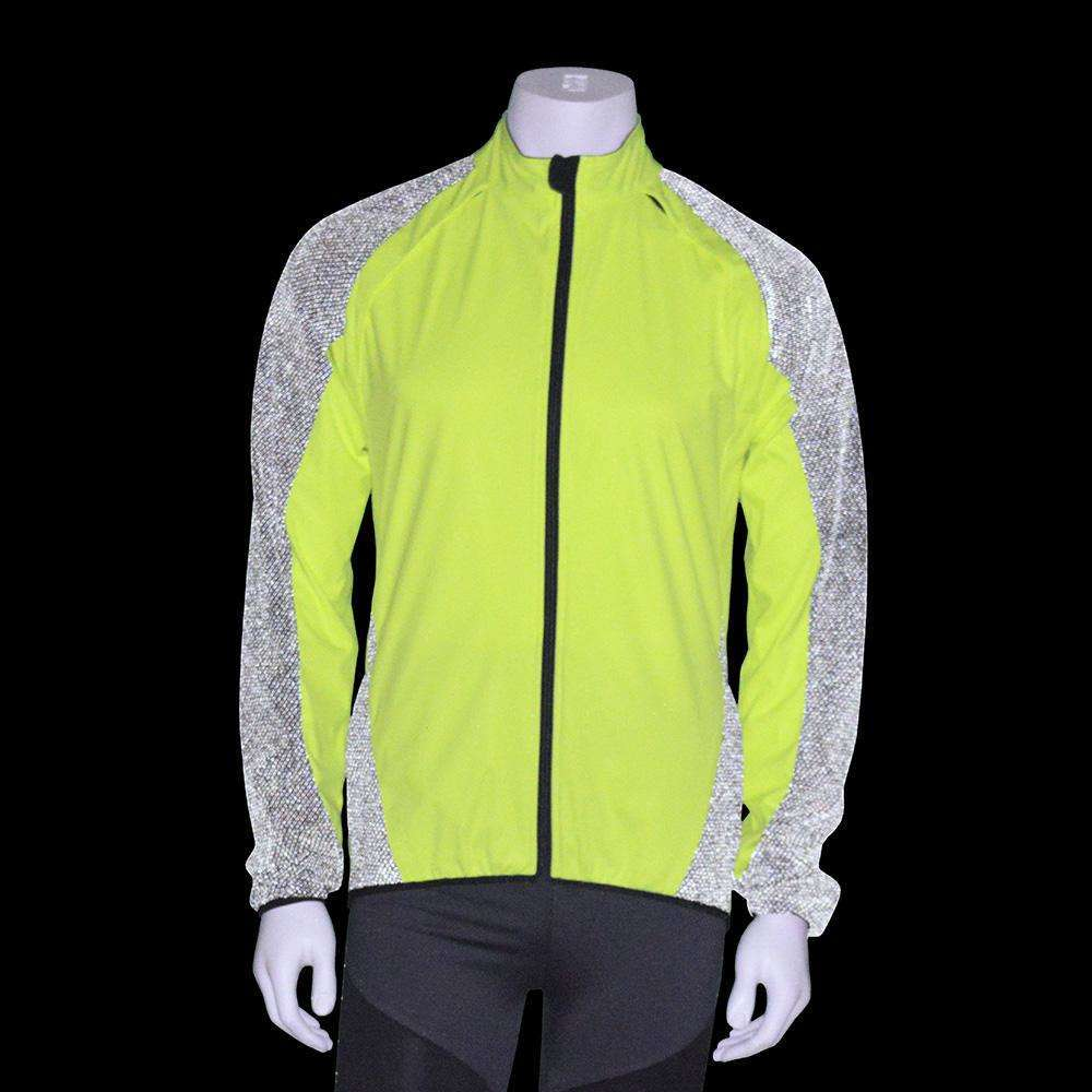 Rochester Men's Reflective Softshell Jacket in Flo Lime/Black