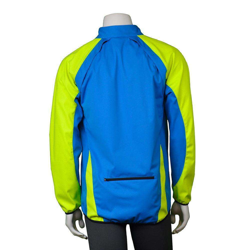 Rochester Men's Reflective Softshell Jacket in Hawaiian Blue/Flo Lime